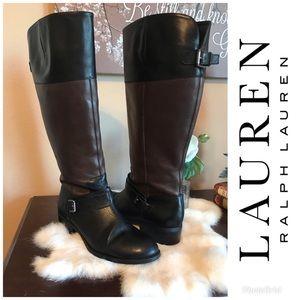 Lauren by Ralph Lauren Womens Maritza (Wide Calf)